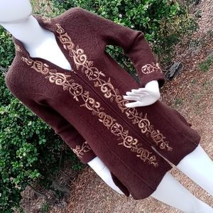 Cold Water Creek Knitted Sweater Jacket